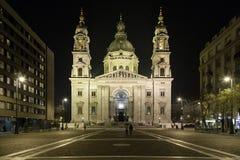 Nocturne Szent Istvan Bazilika Stock Photography