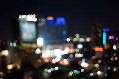 Nocy światła duży miasto Obrazy Royalty Free