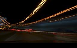 Nocy światła ruchu Fotografia Royalty Free