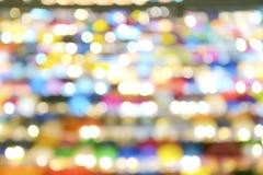 Nocy światła są jaskrawymi światłami, kolorowymi, kurenda zamazujący o fotografia royalty free