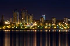 Nocy światła Samara Zdjęcia Stock