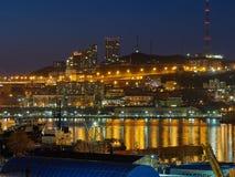 Nocy światła Vladivostok zdjęcia royalty free
