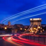 Nocy światła w Budapest Zdjęcia Stock