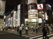 Nocy światła w Ginza, Tokio Obraz Royalty Free