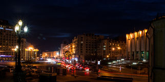 Nocy światło Fotografia Stock