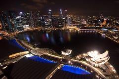 Singapur miasta odgórny widok Obrazy Stock