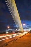 Nocy światło przy Ramy 8 mostem Obraz Royalty Free