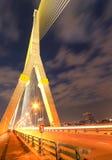 Nocy światło przy Ramy 8 mostem Obrazy Royalty Free