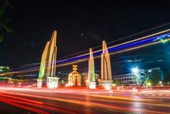 Nocy światło w mieście Fotografia Royalty Free