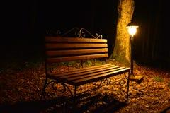 Nocy ławka Obraz Royalty Free
