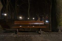Nocy ławka Obraz Stock