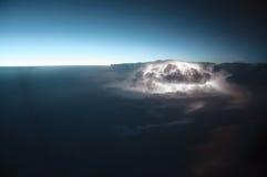 Nocy burzy odgórny widok Zdjęcia Royalty Free