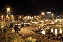 Nocy Cagliari ruch drogowy Fotografia Royalty Free