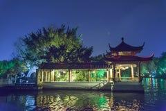 Nocy celownicza sceneria Dwa Rzeczny i Cztery jeziora Ja jest popularnym wycieczki turysycznej punktem Guilin miasto Fotografia Royalty Free