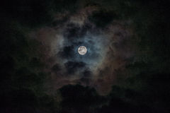 Nocy chmury Obrazy Stock