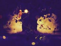 Nocy czarodziejka Obrazy Royalty Free