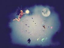 Nocy czarodziejka Obrazy Stock