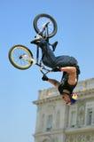 nocy czerwony rower byka Triest obrazy royalty free