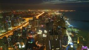 Nocy dróg czasu lekki upływ od Dubai miasta zbiory wideo