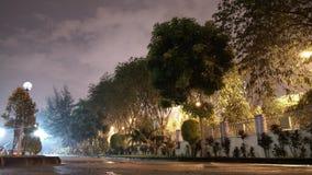 Nocy droga po deszczu Obrazy Royalty Free