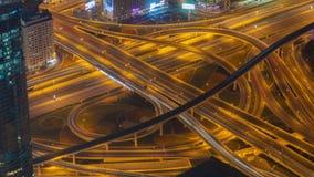 Nocy Dubai ruchu drogowego złącza czasu upływ Niecka up zdjęcie wideo