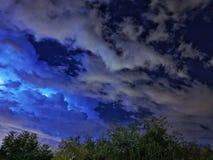 Nocy elektryczna burza Obraz Royalty Free