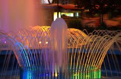 Nocy fontanny Obraz Stock