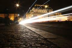Nocy fotografia Shtefanikov most w Praga Zdjęcie Royalty Free