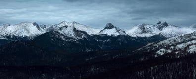 Nocy góry krajobraz Syberyjski Naturalny park Ergaki Rosja ja Zdjęcie Stock