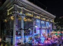Nocy iluminacja Bożenarodzeniowy i Szczęśliwy nowego roku 2015 festiwal Fotografia Royalty Free