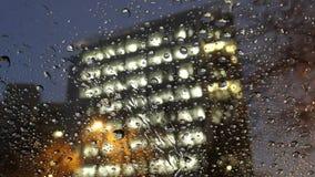 Nocy je?d?enie w d?d?ystym Los Angeles miastowym zbiory wideo