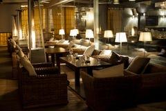 Nocy kawiarnia Zdjęcia Royalty Free