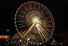 nocy koło ferris Zdjęcie Royalty Free
