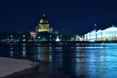 Katedra przy nocą Obrazy Royalty Free