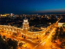 Nocy lato Voronezh Wierza zarz?dzanie po?udniowo-wschodni kolej zdjęcia stock