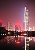 Nocy linia horyzontu zdjęcie stock