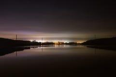 Nocy linia horyzontu Fotografia Stock