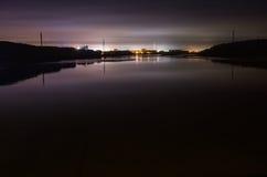 Nocy linia horyzontu Obrazy Royalty Free