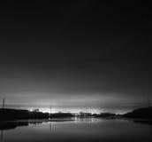 Nocy linia horyzontu Obraz Stock