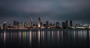 Nocy linia horyzontu San Diego śródmieście, Kalifornia zdjęcie royalty free