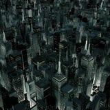 Nocy miasta łuna ilustracji