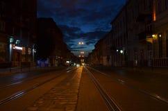 Nocy miasta światła Zdjęcia Stock