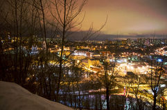 Nocy miasta światła Fotografia Royalty Free