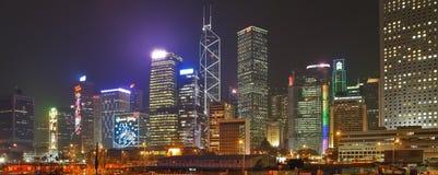 Nocy miasta światła Fotografia Stock