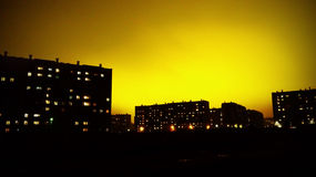 Nocy miasta światła Obrazy Royalty Free