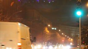 Nocy miasta czasu podołki, nocy miasta ruch drogowy, upływu strzał zdjęcie wideo