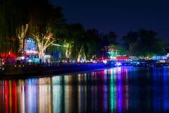 Nocy miasta odbicie Obraz Stock