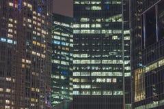 Nocy miasta okno Fotografia Royalty Free