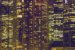 Nocy miasta okno Obraz Royalty Free