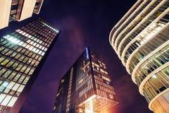 Nocy miasta osvitchene neonowy Obraz Stock